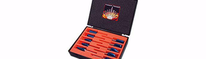 Karnasch freesstiftenset BLUE-TEC-gecoat 10 stuks Ø12mm DINNORM BESTSELLER Art: 114911