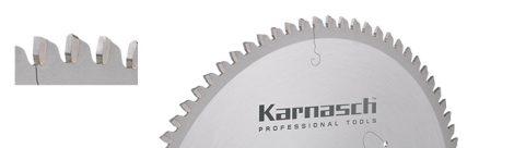Karnasch HM cirkelzaagblad, negatief/dunne/gladde snede Aluminium, Kunststof, kozijnprofielen