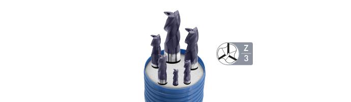 Karnasch HSSX-V2 frezenset, type N d=6-8-10-12-16-20mm/Z=3/weldon-opname TIALN-FUTURA gecoat Art. 703004